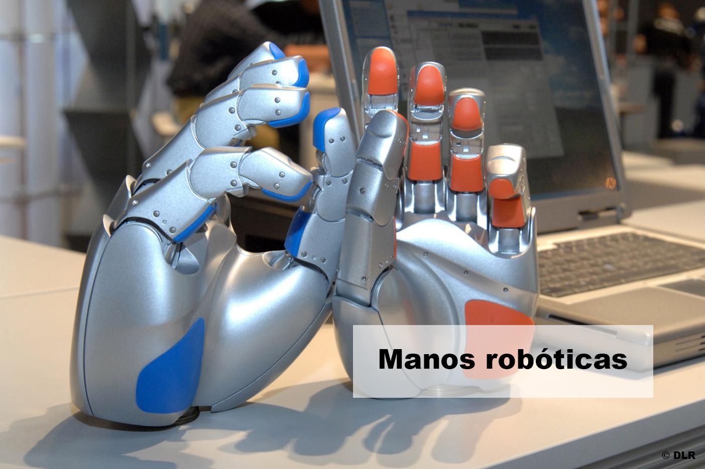 Motor de corriente continua en manos roboticas