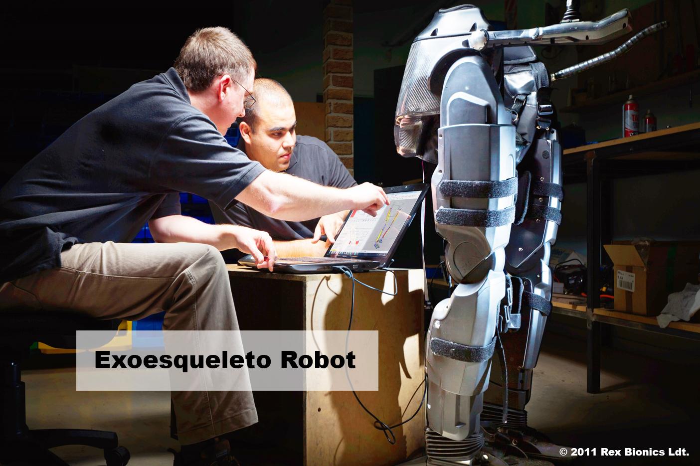 Motor dc en exoesqueleto robótico