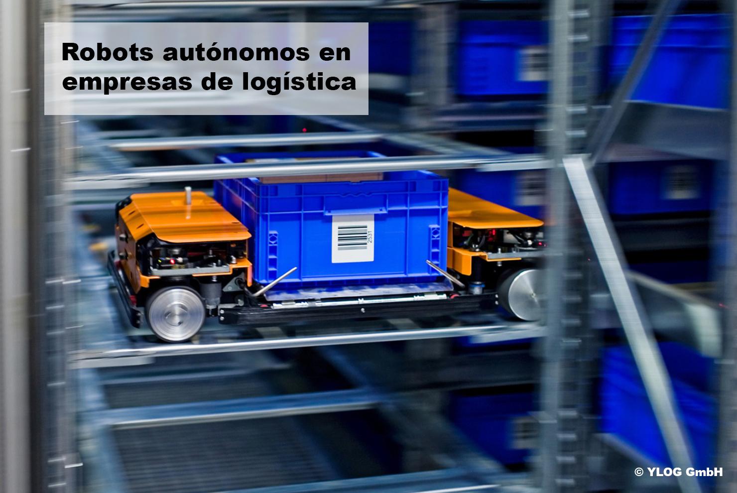 Motores de corriente continua, robots de logística.