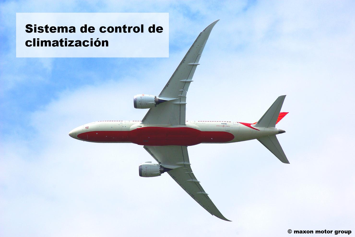Motores DC en la climatización del avión